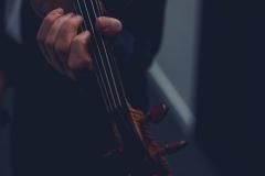 Zbliżenie na gryf skrzypiec