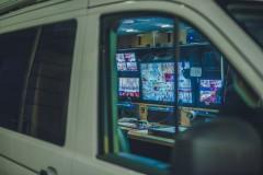 Ekrany w wozie transmisyjnym