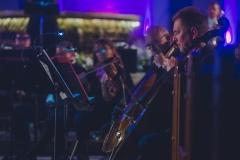 Sekcja wiolonczel orkiestry symfonicznej