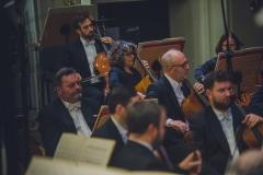 Sekcja wiolonczel i kontrabasów Orkiestry Symfonicznej