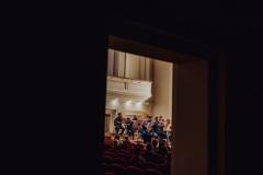 Sala koncertowa widoczna zza kolumn bocznych