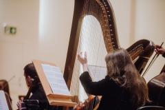 Harfistka oraz orkiestra