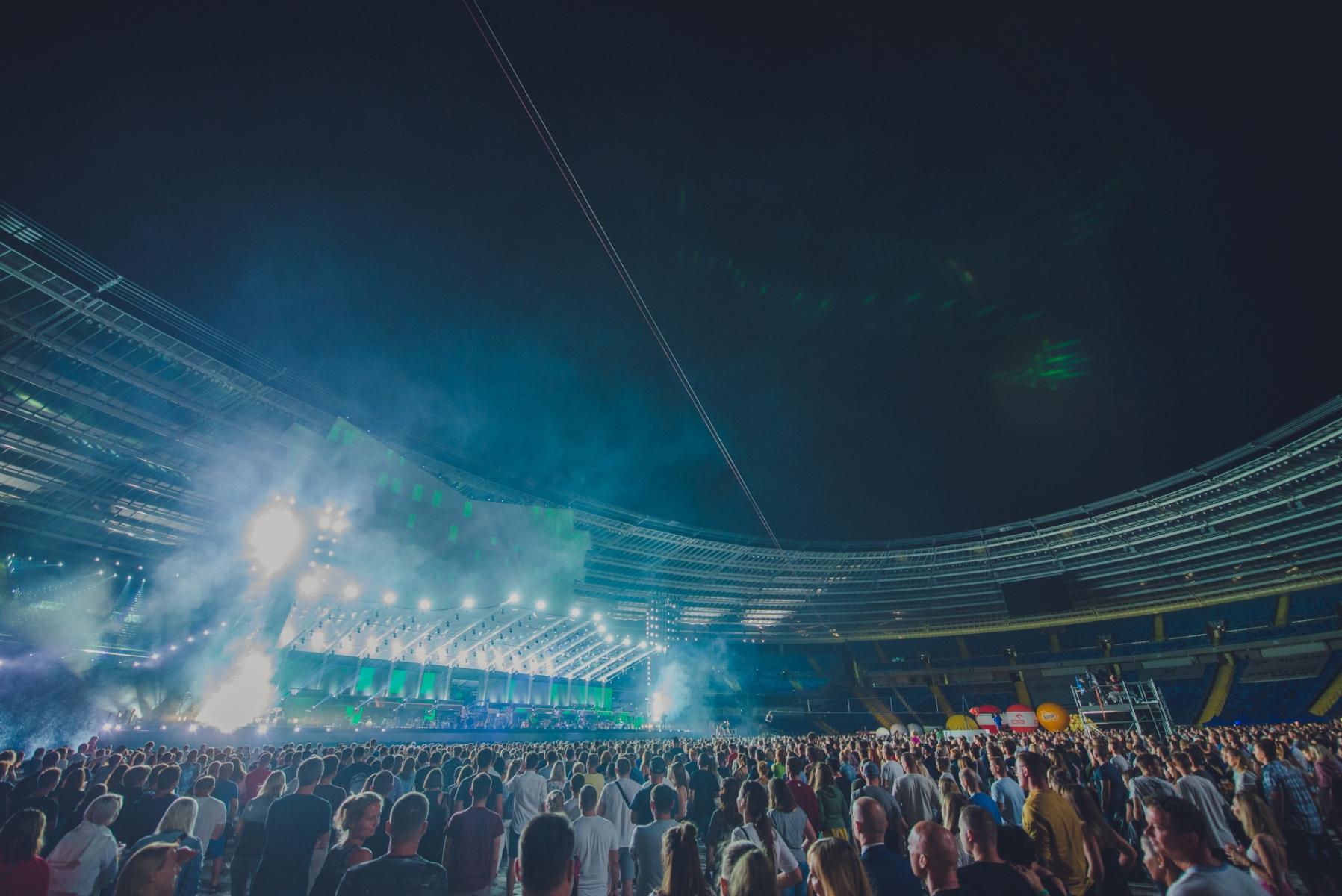 Publiczność zgromadzona na Stadionie Śląskim