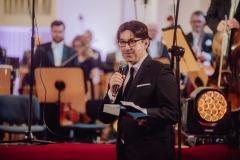 Adam Wesołowski podczas przemowy