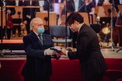 Wręczanie Medalu Gloria Artis dla Filharmonii Śląskiej, odbiera Adam Wesołowski