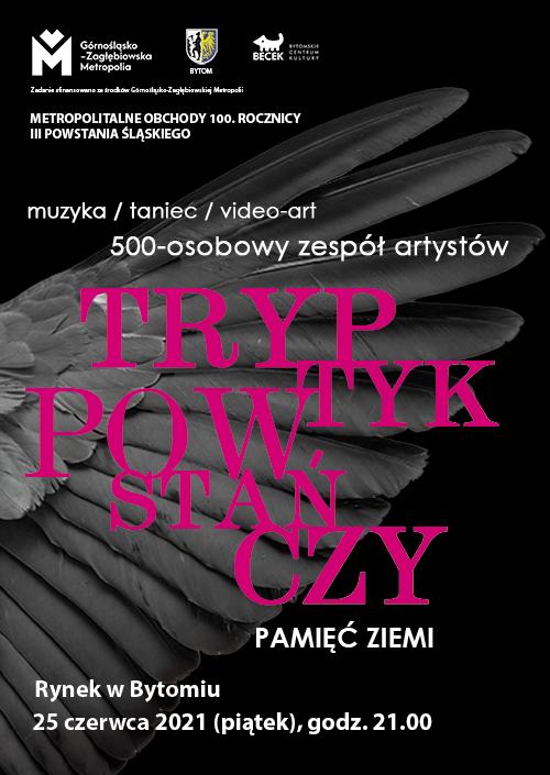 """Afisz koncertu """"Tryptyk Powstańczy"""""""