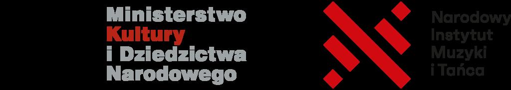 Logotyp Ministerstwa Kultury i Dziedzictwa Narodowego oraz Narodowego Instytutu Muzyki i Tańca